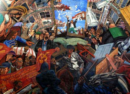 Anniversary of the battle of cable street limehouse town for Cable street mural